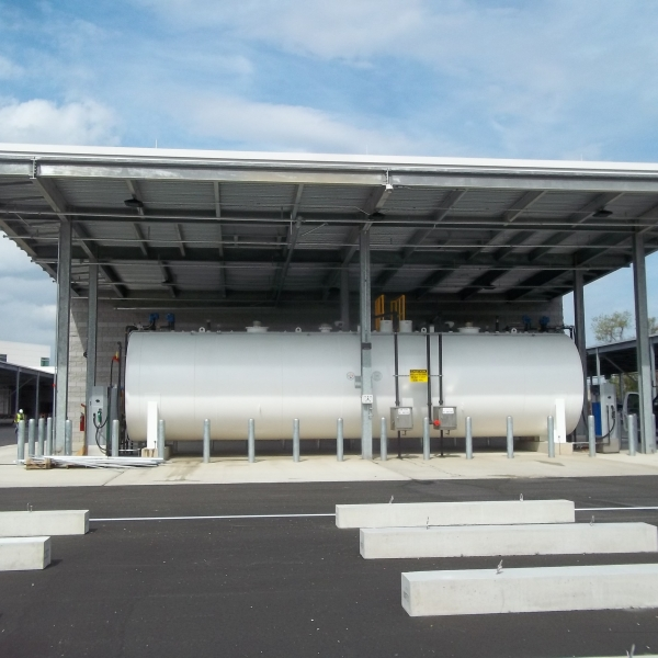 Above Ground Storage Tank with a Canopy